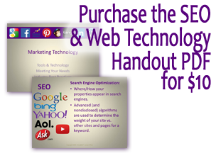 Websites and SEO Guide - Keywords, Page Rank, Website Checklist, and Google  Analytics Workshop PDFs